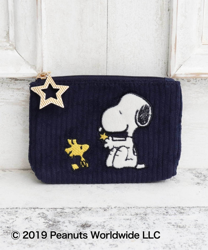 Snoopy Tissue Pouch Navy PEANUTS Afternoon Tea Japan