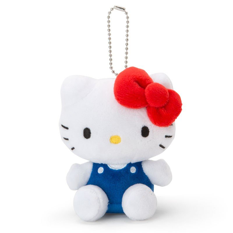 Hello Kitty Plush Mascot Holder Keychain Sanrio Japan 2019