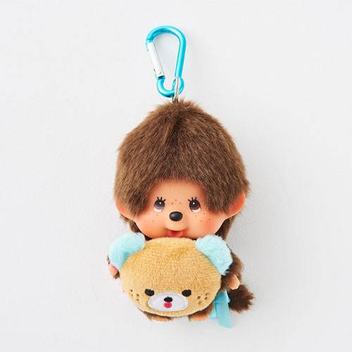 Monchhichi Plush Keychain SS Boy HAPPY TRIP MONCHHICHI Japan