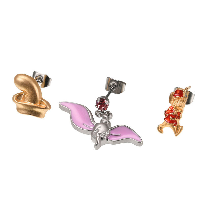 Dumbo Timothy Piercing Earring Set Jewelry case Spring Pastel Disney Store Japan