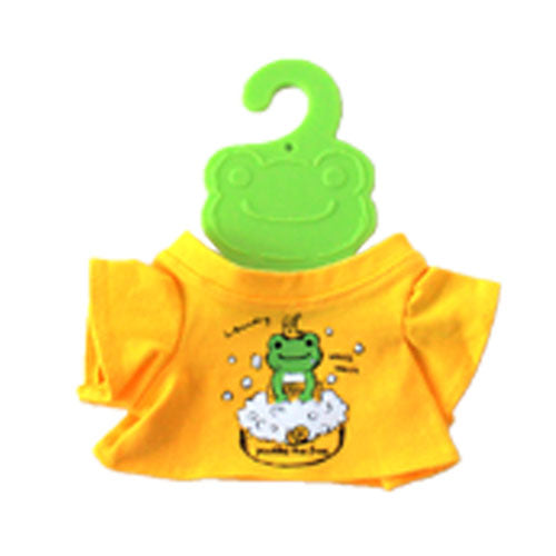 Pickles the Frog Costume for Bean Doll Plush mini T-shirt Laundry Yellow Japan
