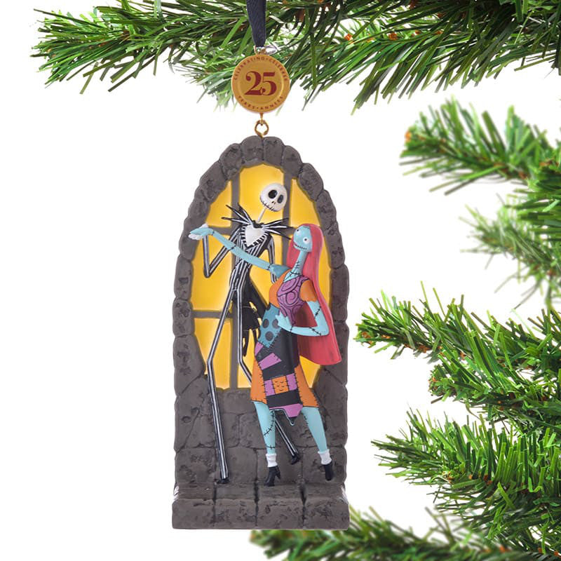 Nightmare Before Christmas Jack & Sally Tree Ornament Legacy Disney Store Japan