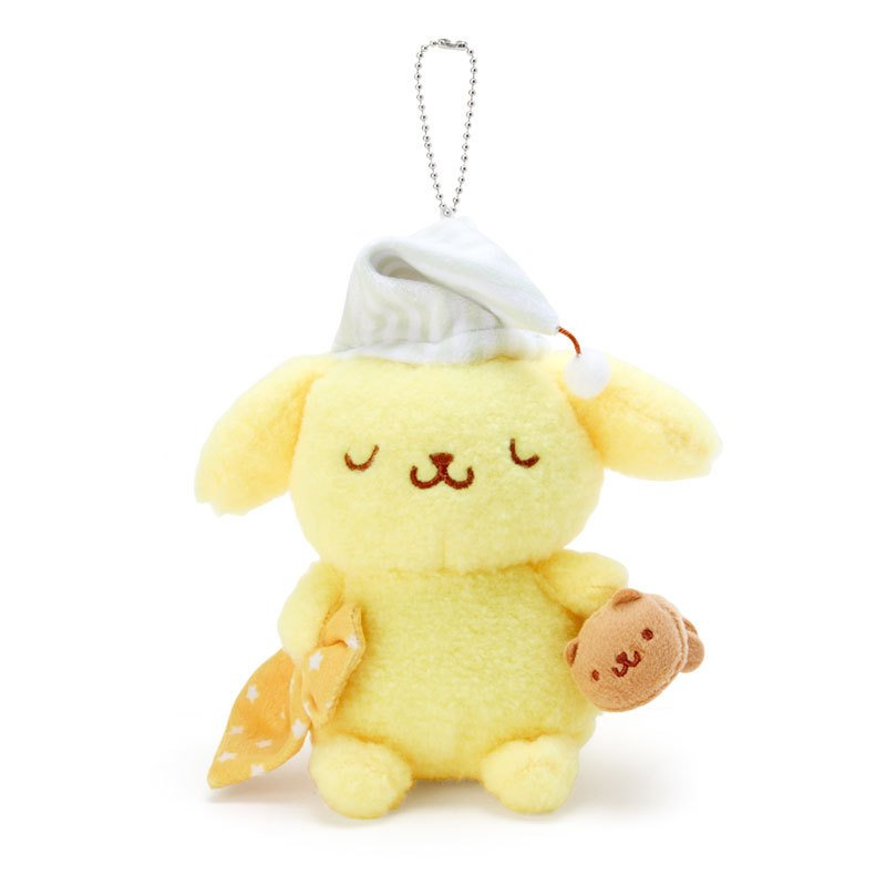 Pom Pom Purin Plush Mascot Holder Keychain Nemunemu Sleepy Sanrio Japan