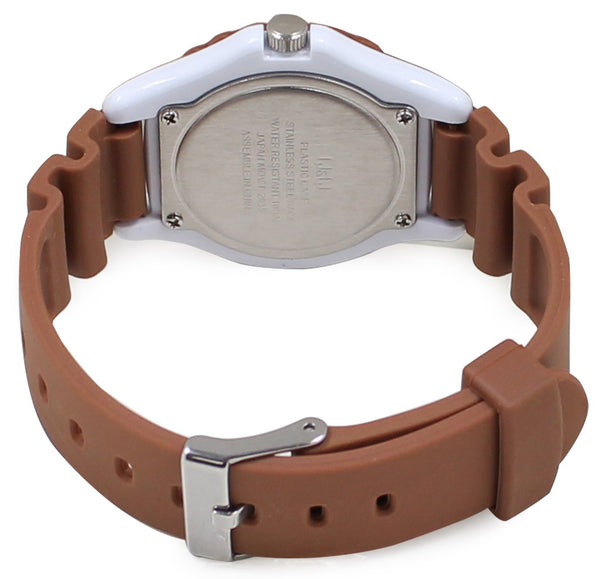 Chip & Dale Wrist Watch Waterproof Brown HW02-003 CITIZEN Q&Q Japan Disney