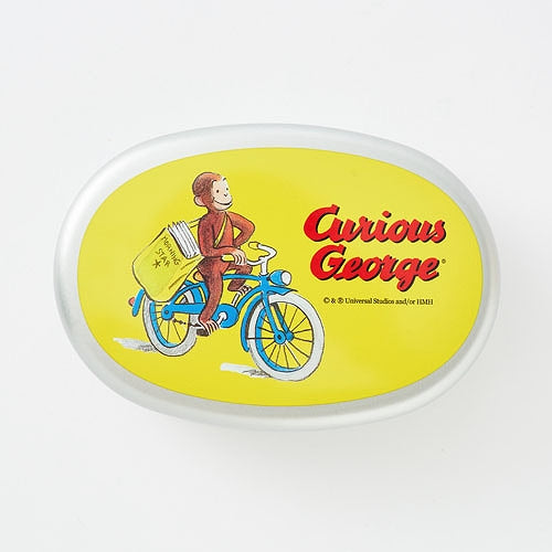 Curious George Aluminum Lunch Box Bento Bicycle Japan
