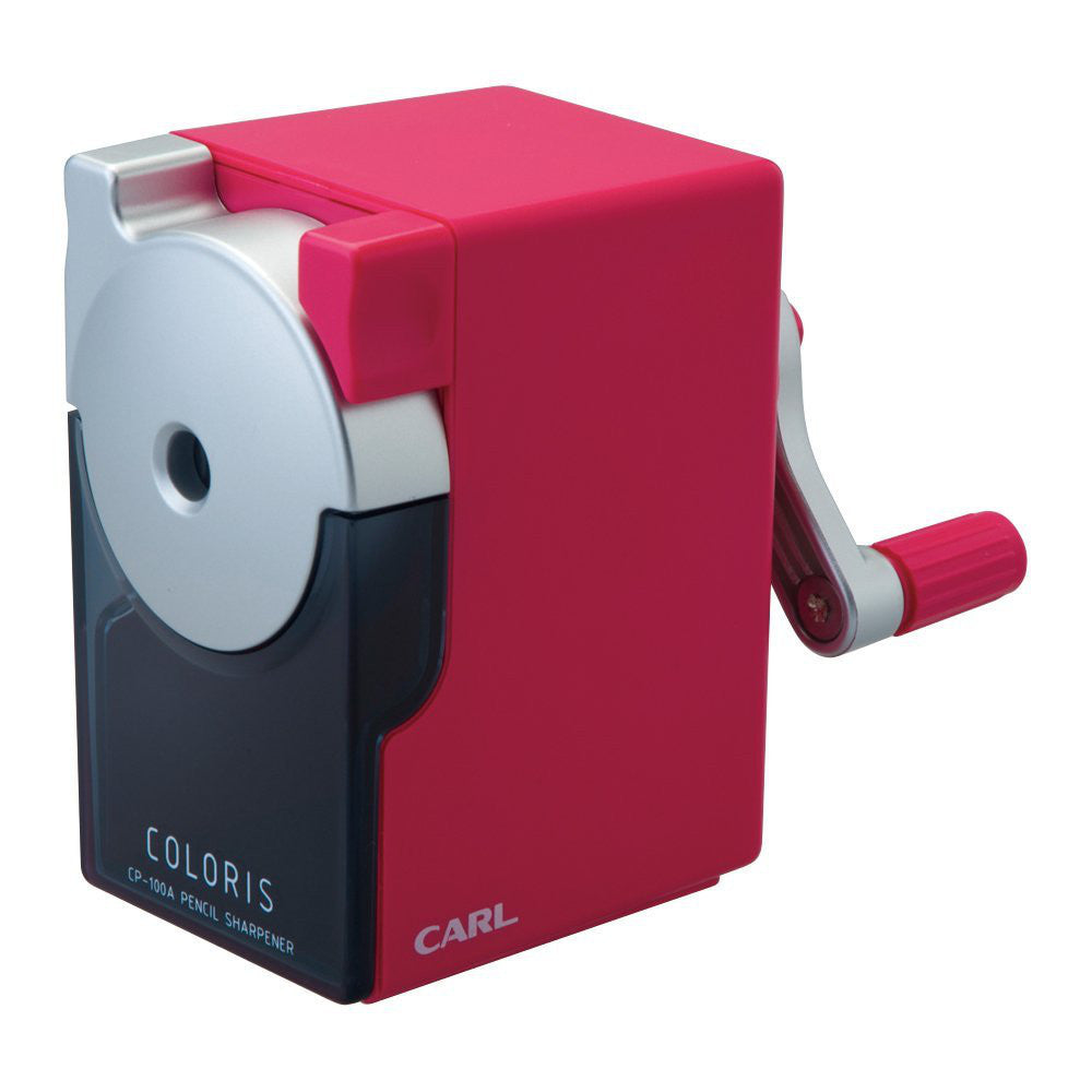 CARL Pencil Sharpener Kararisu CP-100A-P Red Japan