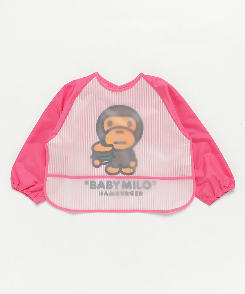 STRIPE BABY MILO FOOD SMOCK KB Pink A BATHING APE Japan Kids