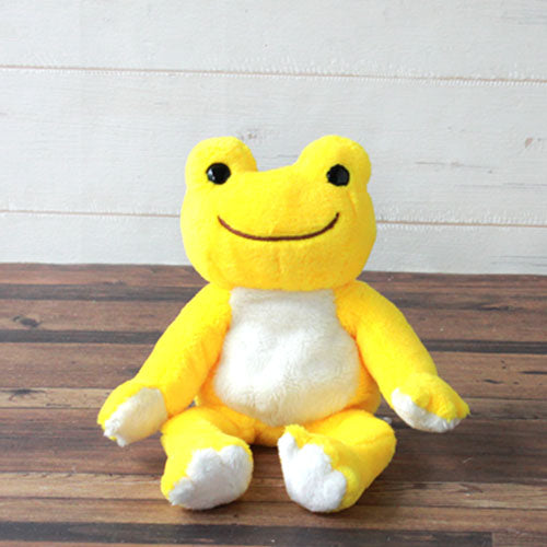 Pickles the Frog Bean Doll Plush Sunny Yellow Rainbow Color Japan