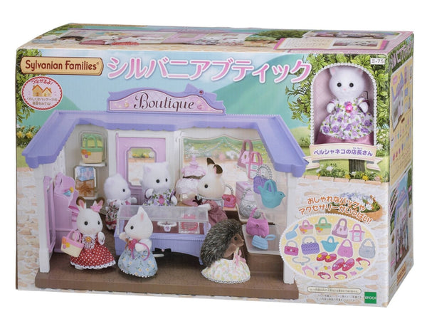 Sylvanian Families Store Boutique Shop bag dress shoes Japan Calico Critters
