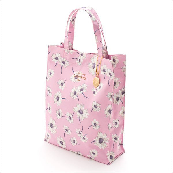 Tote Bag L Flower Marguerite Pink Laduree Japan