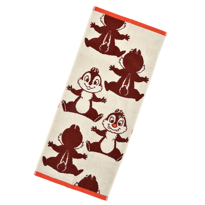 Chip & Dale Face Towel Color Disney Store Japan