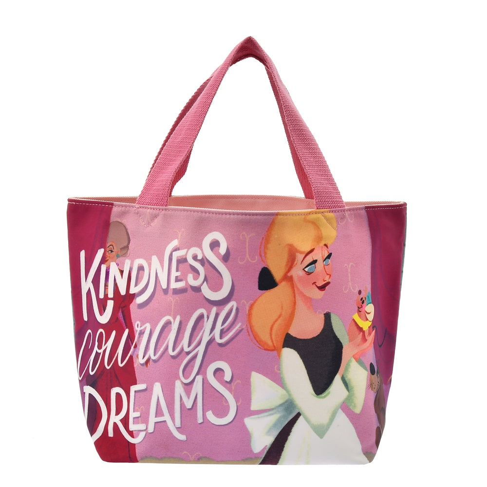 Cinderella Tote Bag Reversible Pink Follow your dreams Disney Store Japan