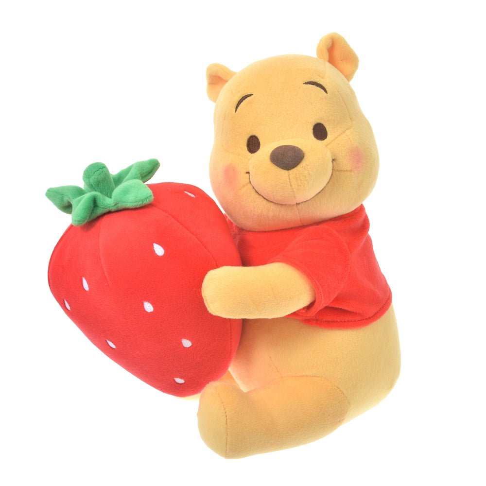 Winnie the Pooh Plush Doll Strawberry Ichigo 2021 Disney Store Japan