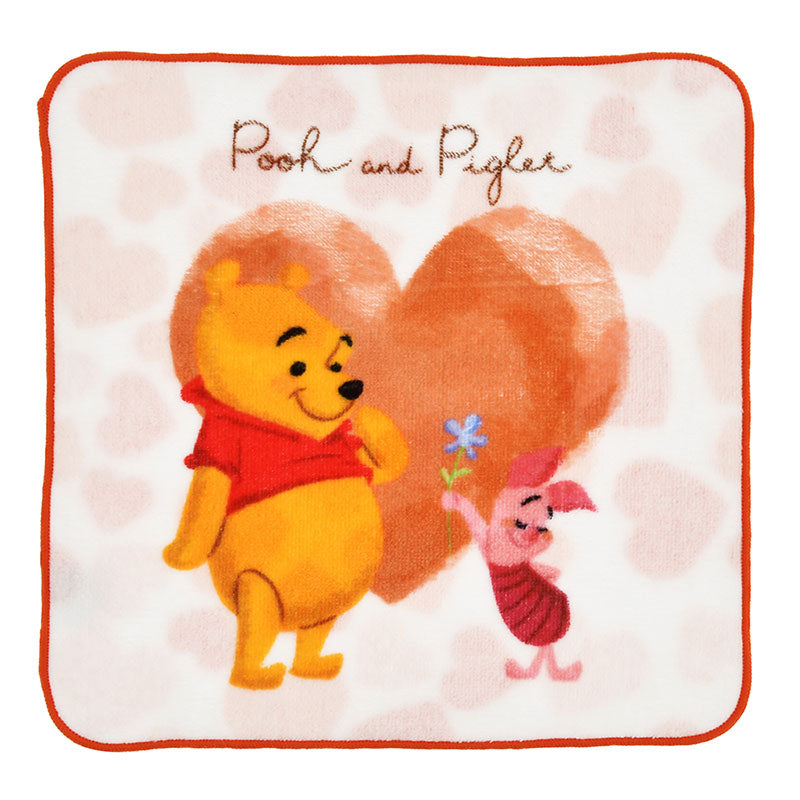 Winnie the Pooh & Piglet mini Towel Valentine 2020 Disney Store Japan w/ Package