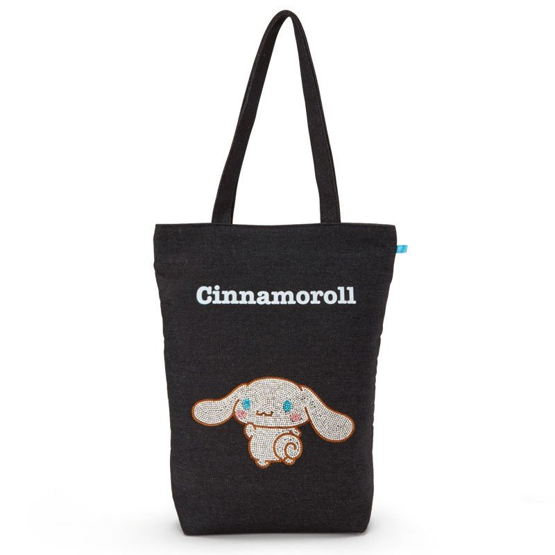 Cinnamoroll Denim Tote Bag A4 Glitter Sanrio Japan