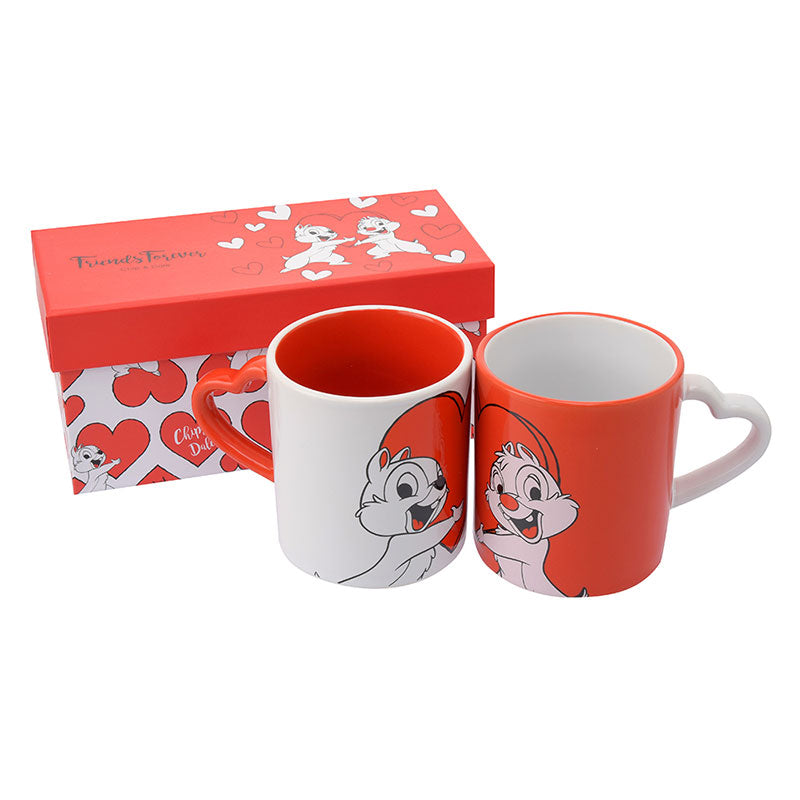 Chip & Dale Mug Cup Gift Box Valentine 2019 Disney Store Japan
