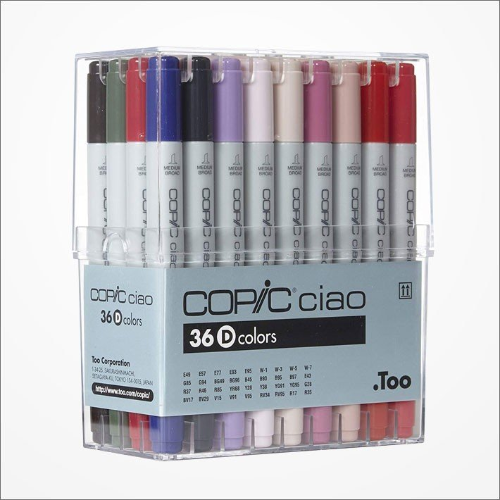 Copic Ciao Marker Pen 36 Colors D Set Japan Manga Comic Illustration
