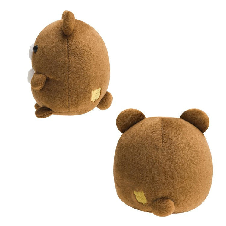 Chairoikoguma Plush Doll S Super Soft Round San-X Japan Rilakkuma