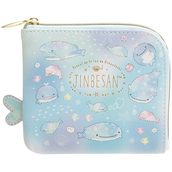 Jinbe San Wallet with Pearl Color Dolphin San-X Japan