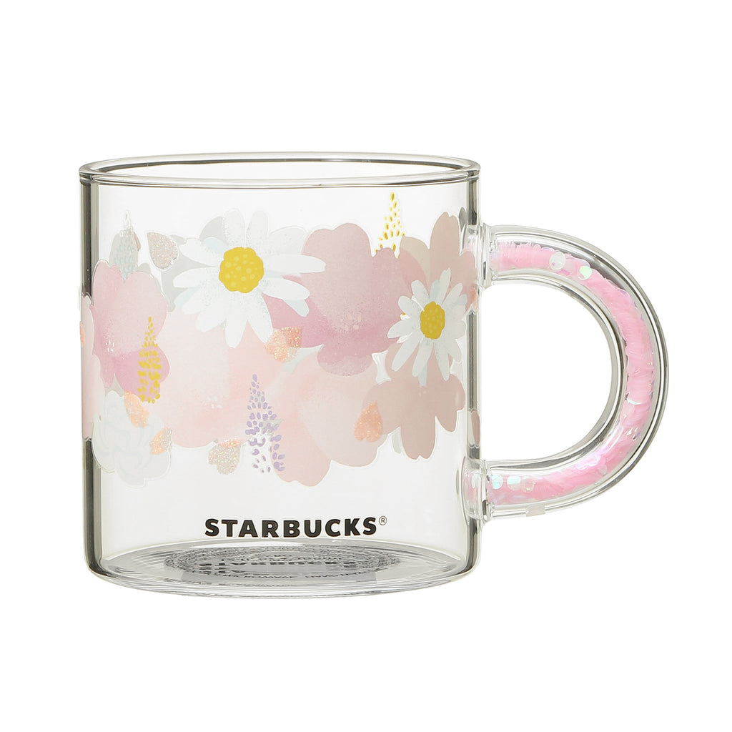 Glass Mug Cup Handle Pink 355ml SAKURA 2021 Starbucks Japan Ver. 2