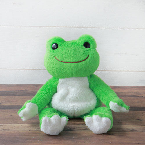 Pickles the Frog Bean Doll Plush Green Rainbow Color Japan