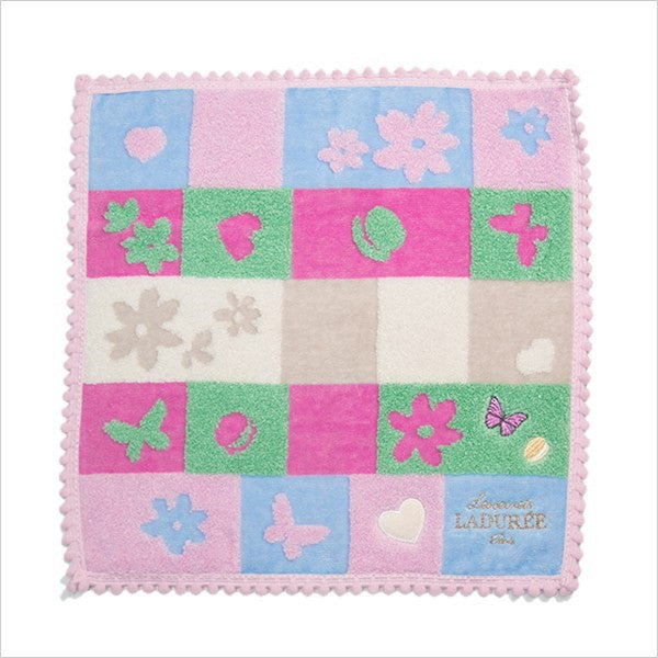 Towel Handkerchief Blue Let's Play Laduree Japan