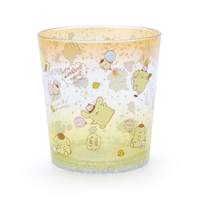 Pom Pom Purin Plastic Cup Clear Tumbler Sanrio Japan