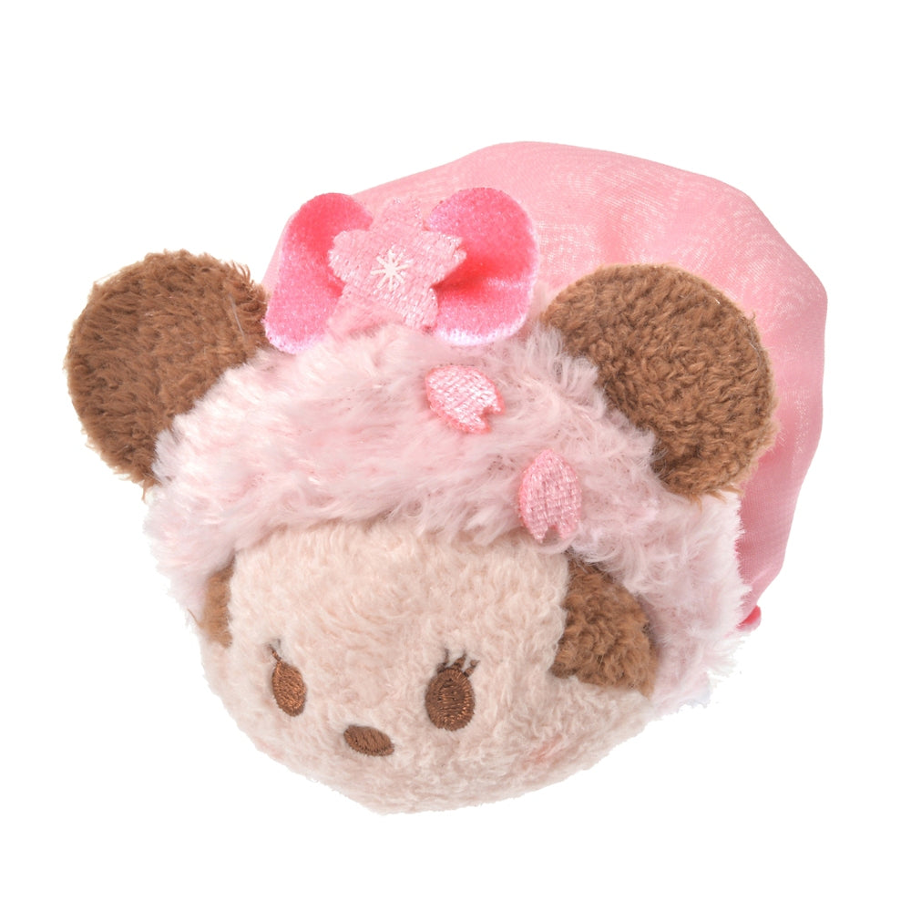 Minnie Tsum Tsum Plush Doll mini S Disney Store Japan Sakura 2021