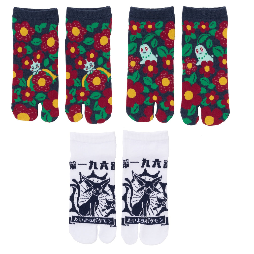 2 Finger socks 3pcs Set Japanese Wa S1 Pokemon Center Japan Original