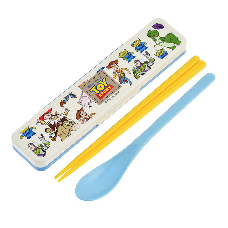Toy Story Chopsticks & Spoon Set Case Disney Store Japan