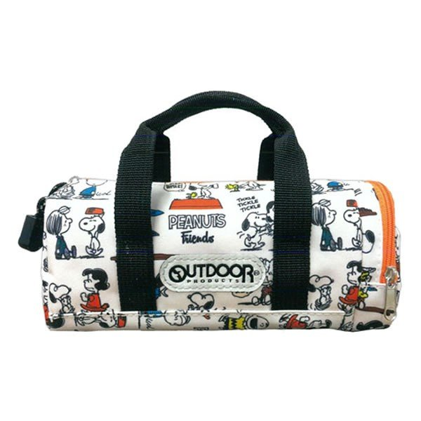 Snoopy OUTDOOR Pen Case Pencil Pouch Boston Bag shape Friends PEANUTS Japan