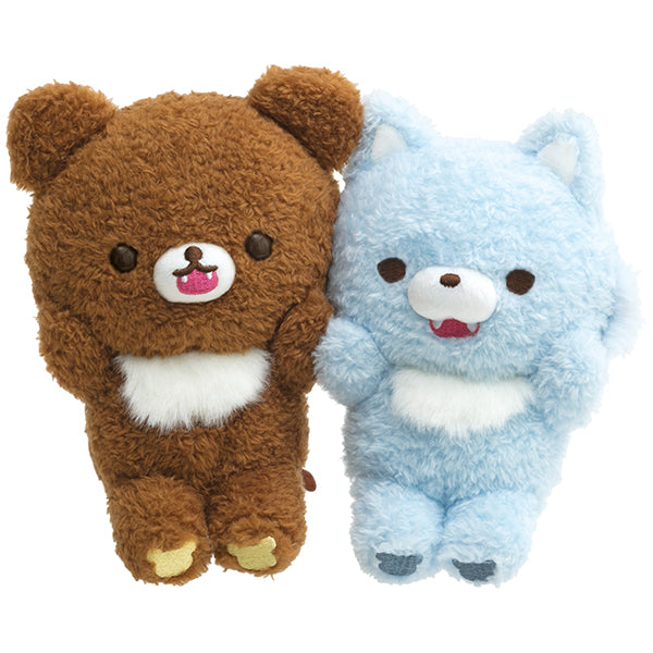 Chairoikoguma Marche Blue Wolf Plush Doll San-X Japan Rilakkuma