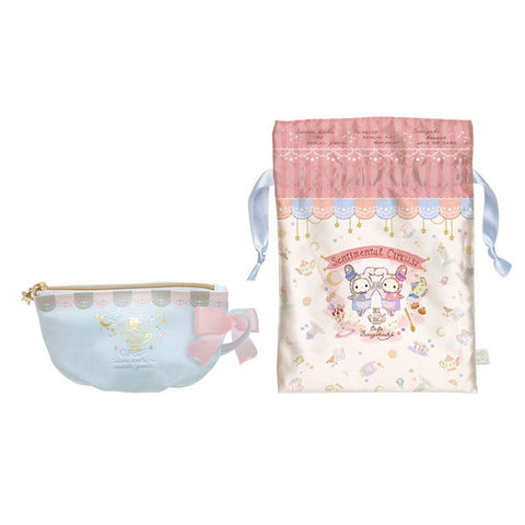 Sentimental Circus Drawstring Bag Pouch Set Shappo Spica Cafe Twins San-X Japan