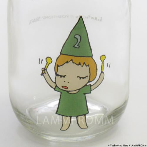 Yoshitomo Nara Glass Storage Jar M Girl 2 Green Japan Art