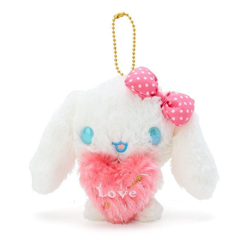 Cinnamoroll Plush Mascot Keychain Heart Cupid Sanrio Japan Valentine's Day