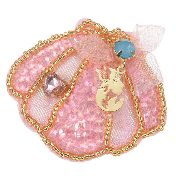 Ariel Hair Pin Pink Ribbon Princess Disney Store Japan