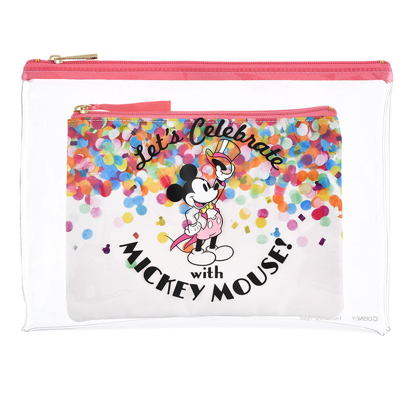 Flat Pouch Let's Celebrate with Mickey Mouse 2020 Disney Store Japan New Year