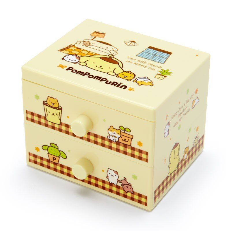 Pom Pom Purin mini Plastic Chest Sanrio Japan