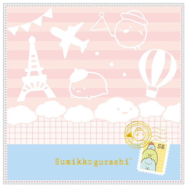 Sumikko Gurashi mini Towel Traveling Mood Pink San-X Japan