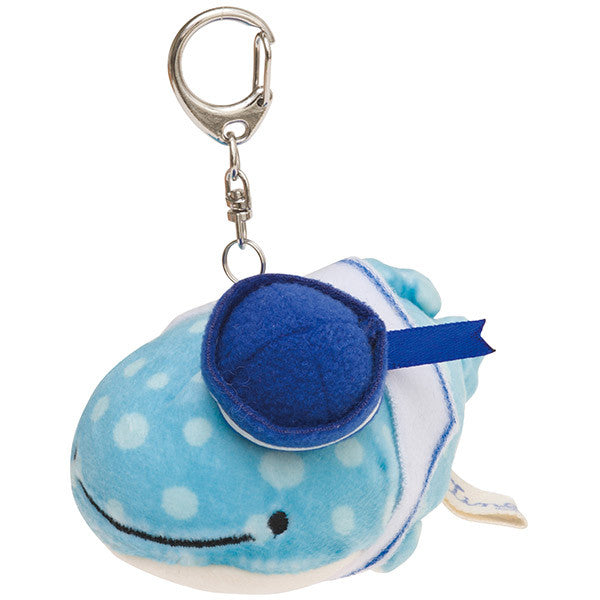 Jinbei San Whale Shark Soft Plush Keychain Deep Sea Friends San-X Japan