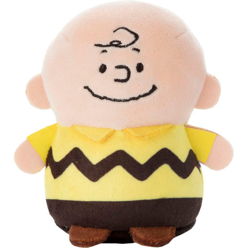 Charlie Brown mini Plush Doll Mocchi-Mocchi- Snoopy Takara Tomy Japan