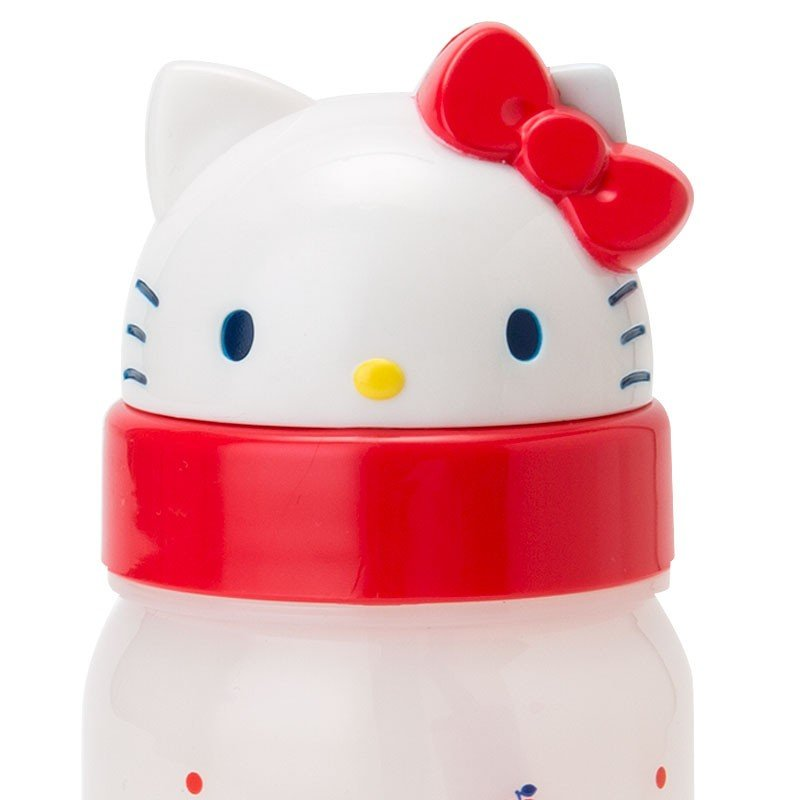 Hello Kitty Cold Straw Bottle Face Apple Sanrio Japan