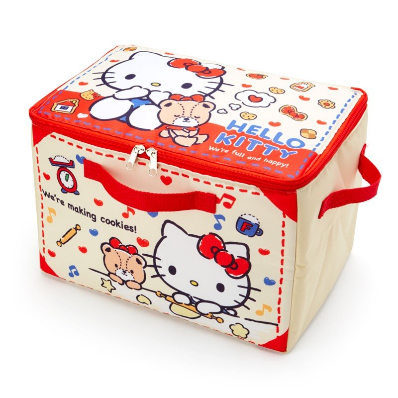 Hello Kitty & Tiny Chum Folding Storage Box Sanrio Japan