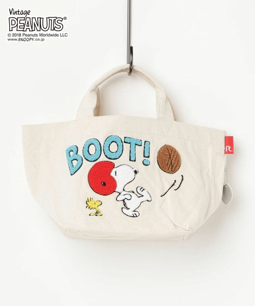 Vintage PEANUTS Snoopy ROOTOTE Deli Tote Bag Football mini Japan 2018