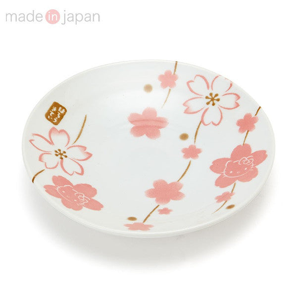 Hello Kitty Plate M Sakura Hand Drawn Sanrio Japan