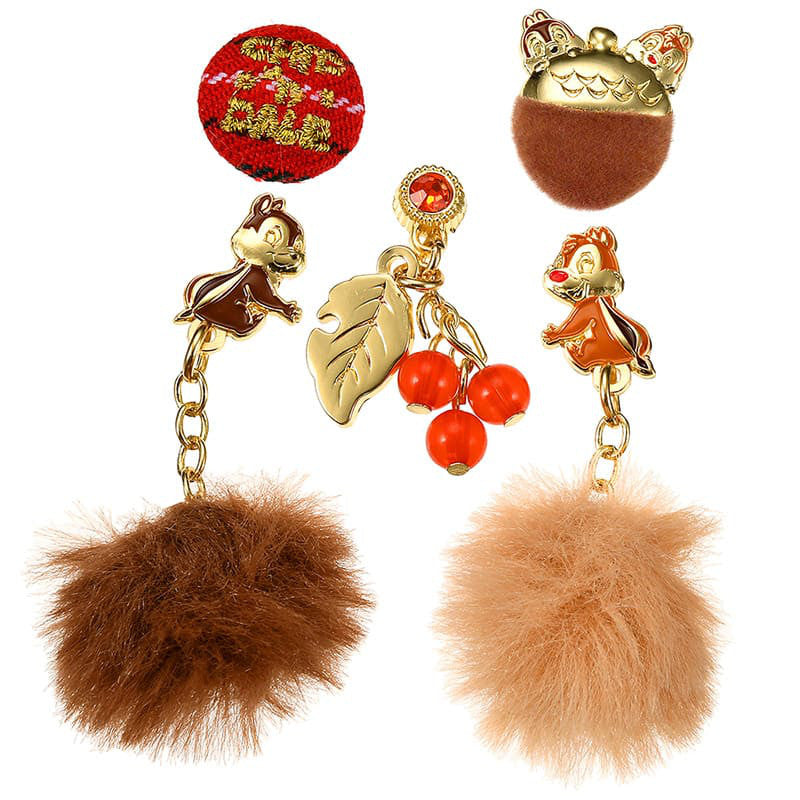 Chip & Dale Piercing Earring Set Autumn & Winter Disney Store Japan