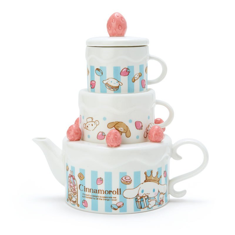 Cinnamoroll Tea for 2 Teapot Cup Set Crown Sanrio Japan