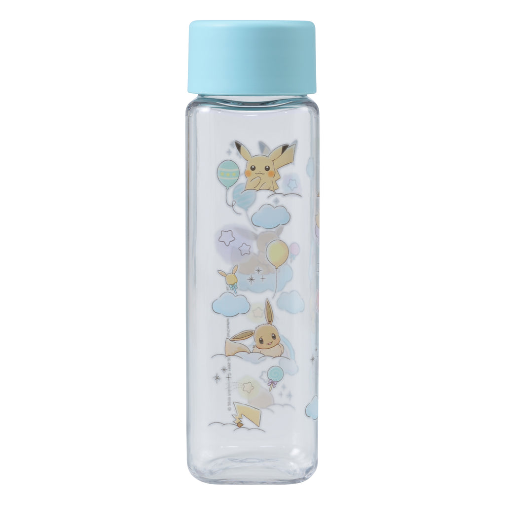 Pikachu & Eevee Eievui Clear Plastic Bottle Rainbow Pokemon Center Japan