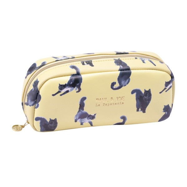 Pen Case Pencil Pouch M1 Ink Cat Lemon Yellow PAUL & JOE Japan