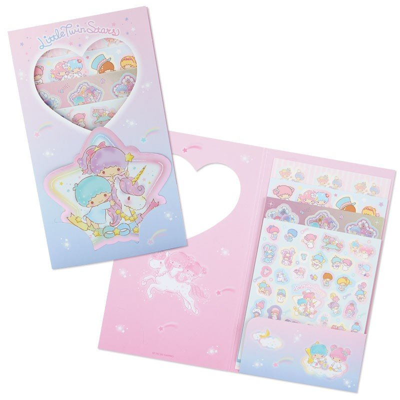 Little Twin Stars Kiki Lala Volume Sticker Set Sanrio Japan